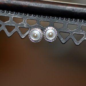 Vintage Pearl & Mother of Pearl Stud Earrings